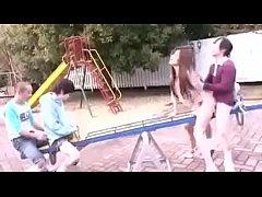porn xxx เย็ดสดสนามเด็กเล่น  แก๊งค์เด็กแสบจับพี่สาวกระแทกหีบนกระดานหก